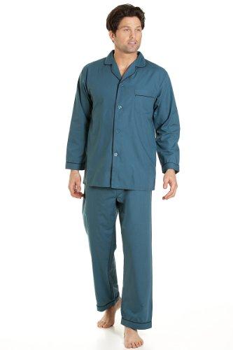 Haigman Herren Nachtwäsche, Langarm-Schlafanzug mit Hosen, grün, Größe XXL