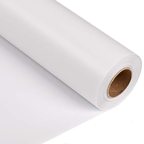 "Joyinland Heat Transfer Vinyl HTV Rolls - 12"" x 20' White Iron On Vinyl for Silhouette Cameo - DIY Heat Transfer Design for T Shirts(White)"