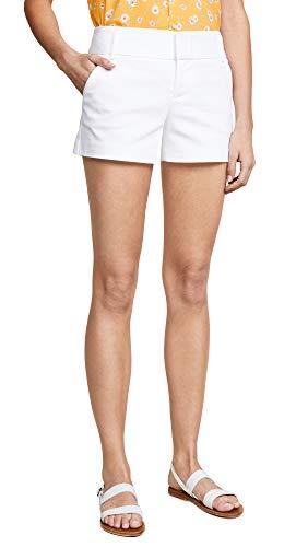 Alice + Olivia Women's Cady Shorts, White, 4