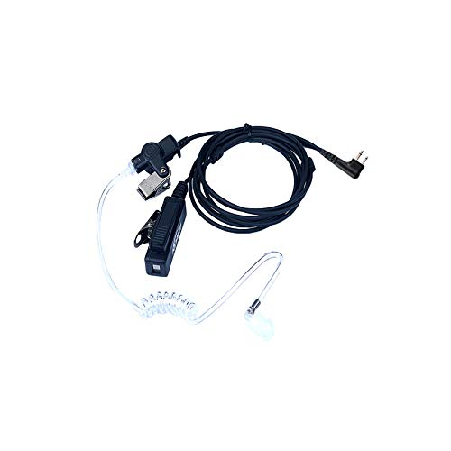 KEYBLU 2-Wire Acoustic Tube Earpiece/Headset with PTT and Mic Surveillance Kit for Motorola Walkie Talkie RDM2070d CP200 CP200d CLS1410 CLS1110 CLS1413 CLS1450 Radio