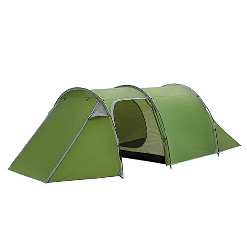 Tent Coastline 3/4 Man Tent, 3/4 Persoons Tunneltent, Campingtent, Lichte Trekkingtent Met Luifel, Waterdicht WS 3.000Mm,Green