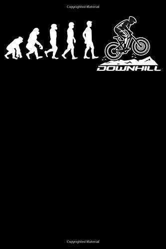 Evolution Downhill: Notizbuch DIN A5 Gepunktet / Dotted 120 Seiten Fahrrad MTB Entwicklung Mountainbike Rennrad Downhill Radsport Bike als ... Planer Tagebuch Notizheft Notizblock