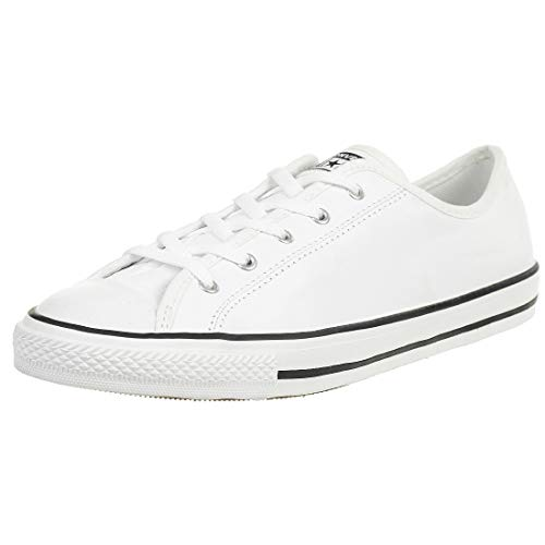 Converse Damen Chuck Taylor All Star Profile Leather Low Top Turnschuh, Weiß/Schwarz, 40 EU