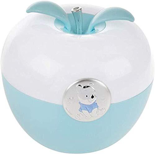 Disney - Veilleuse à LED pour enfant - pour table de nuit/s'allume en soufflant dessus - coloré/motif Winnie l'Ourson/détails argentés