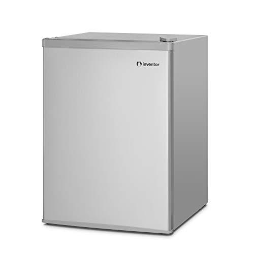 31Yp3nHpDfL - Inventor Mini Nevera A+ con Compresor, 66 litros de Capacidad, Color Plata, Silenciosa e ideal para hoteles, estudiantes, dormitorios y pequeños hogares