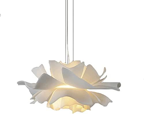 PLLP Novità Lampadario, Lampadario con personalità di fiori e alberi da frutto, Luci creative del soggiorno del ristorante, Illuminazione decorativa semplice-Bianco 50X21 cm,bianca,50x21 cm