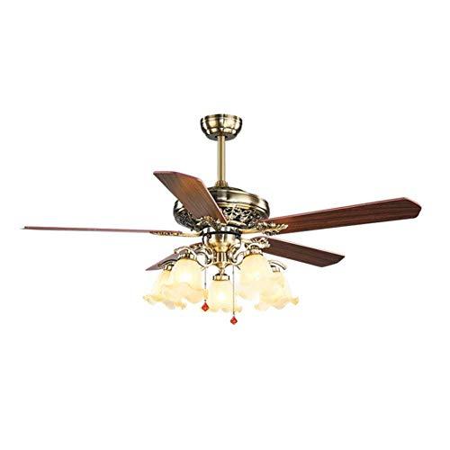 Massoser kroonluchter - plafondventilator met vijf lampen en kompas lamp, 42
