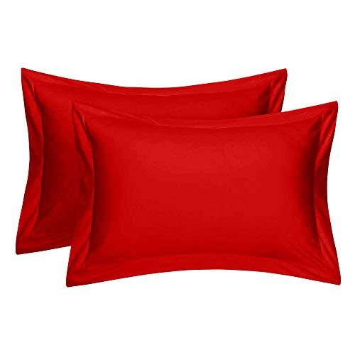 Comfort Beddings - Juego de 2 fundas de almohada 100% algodón egipcio de 400 hilos, almohadones...