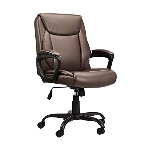 Classic Puresoft Padded Mid-Back Office Computer Desk Chair