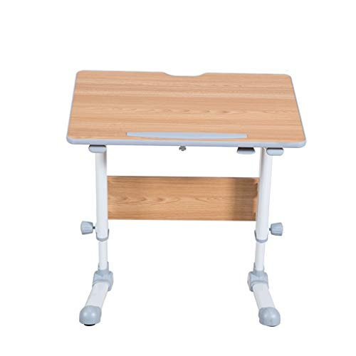 RKRXDH Mobile Laptop Desk,Folding Bracket Mobile Table Laptop Table Mobile Laptop Stands Overbed Table For Office And Home overbed table (Color : Teak-Tiltable, Size : 80x50cm)
