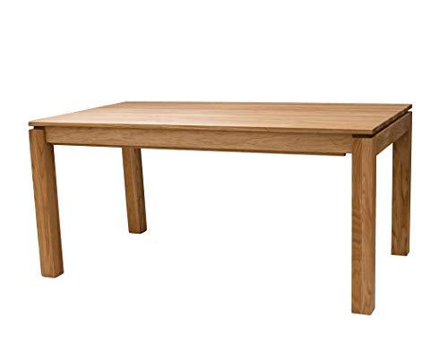 expendio Esstisch Kantu 3XL Eiche Natur geölt 160(280) x90 cm Tisch ausziehbar Massivholztisch Ausziehtisch Esszimmertisch