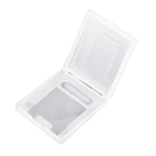 fengzong Klare Kunststoff-Spielpatronenhüllen Aufbewahrungsbox Schutzhalter Staubschutzabdeckung Ersatzschale für Nintend Gameboy GB GBC GBP (Clear & Clear)