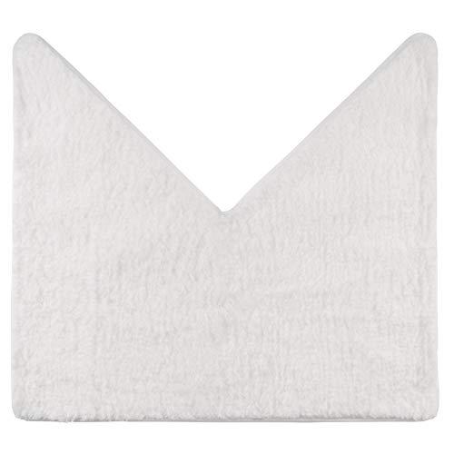 Santec Alfombra de baño de pelo largo para ducha de esquina de microfibra con base antideslizante