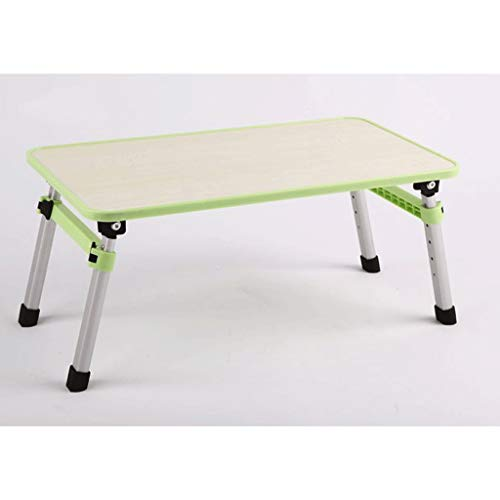 Computer Desk Laptop Desk Bed Study Desk Lezing Studeren Desk Folding Lifting Computer Desk Small Table (Color : Green)