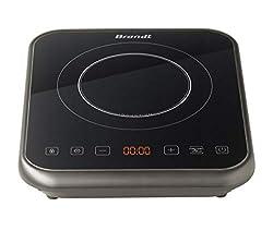 BRANDT - Plaque à induction portable - Rapide avec 10 niveaux de puissance jusqu'à 2000 W - Sécurité maximale avec verrouillage des commandes - Arrêt automatique anti-surchauffe - Noire: Amazon.fr: Cuisine & Maison