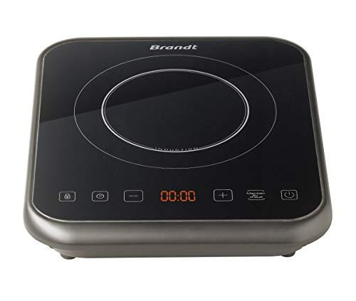 BRANDT - Plaque à induction portable - Rapide avec 10 niveaux de puissance jusqu'à 2000 W - Sécurité maximale avec verrouillage des commandes - Arrêt automatique anti-surchauffe – Noire