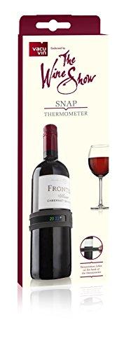 Der Wein Show von Vacu Vin Snap Thermometer, Grau