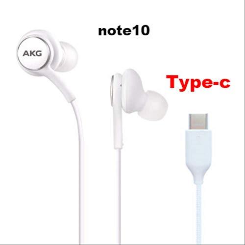Auriculares AKG IG955, 3,5 mm, Tipo C, con micrófono y Mando a Distancia, para Samsung Note10 / Note10 + S8 S9 S10 / Xiaomi/Huawei/Apple Tipo-C Bianco