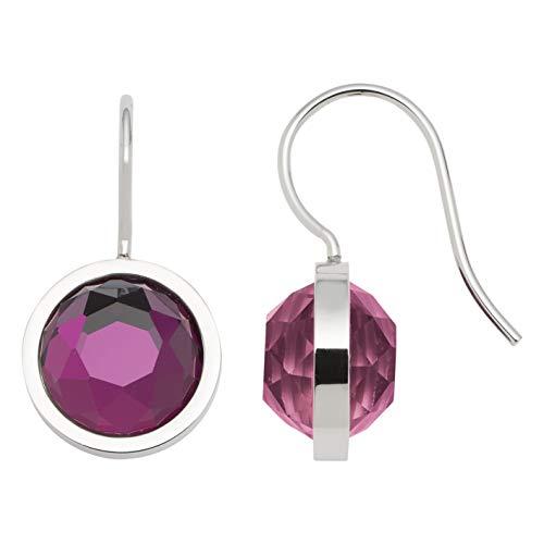 JEWELS BY LEONARDO Damen-Ohrhänger Messina, Edelstahl mit ultravioletten, facettierten Glassteinen, Größe (B/H/T): 120/23/14mm, 016646