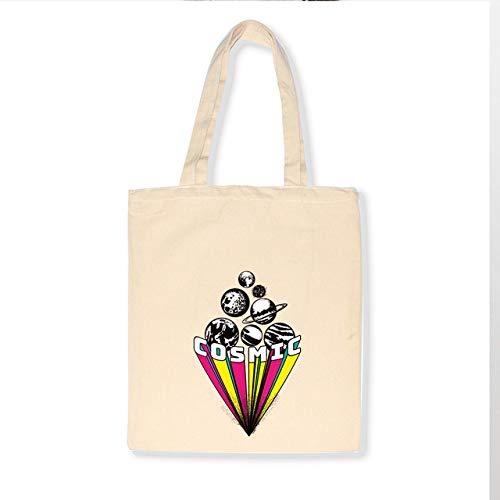 TEVERL Damen Canvas Tasche Alphabet gedruckt grau Stoff Einkaufstasche Damen Handtasche Strandtasche Dame