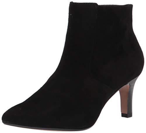 Clarks Women's Illeana Petal Ankle Boot, Black Suede, 10W