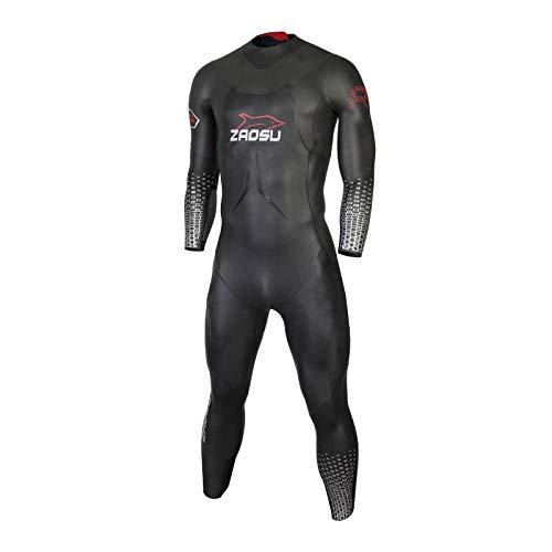 ZAOSU Herren Neoprenanzug Racing+ | Triathlon Wetsuit fürs Freiwasser Schwimmen und Wettkämpfe, Größe:L