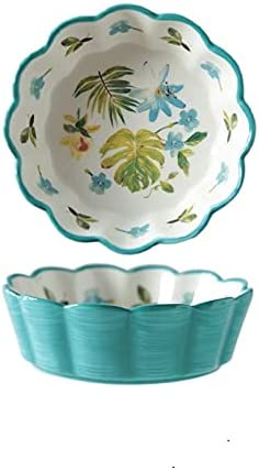 Ceramic Bargain Bowl Fruit Plate 1pcs Salad 360ml Household Large-scale sale Dessert