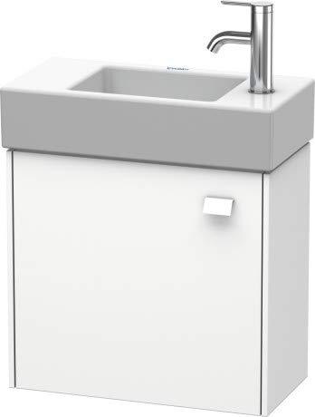 Duravit Brioso Vanity unit hangend aan de wand 48,4 x 23,9 cm, 1 deur, linksdraaiend, voor Vero Air wastafel 072450, Kleur (voorzijde/karkas): Betongrijs mat decor, handgreep betongrijs mat - BR4051L0707