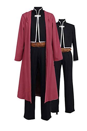 Ya-cos Fullmetal Alchemist Halloween Costume Edward Elric Cosplay Red Full Suit