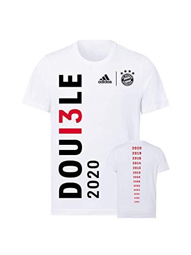 FC Bayern München T-Shirt Double 2020 weiß, XXL