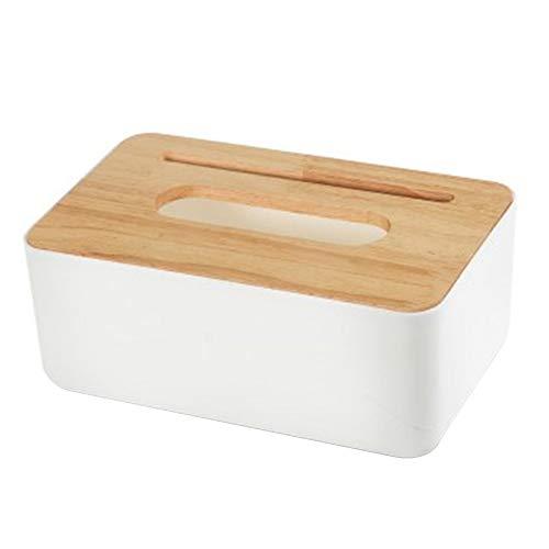 AIUIN Holz Feuchttücher-Aufbewahrungsbox, trocken nass Taschentuch-Etui, Servietten-Aufbewahrungsbox, Halter für Baby-Feuchttücher, Spender für Zuhause und Büro (Style 8)