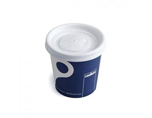 Lavazza–113,4g Espresso Tassen & passenden Deckel (50Tassen & 50Deckel)