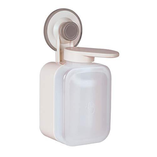 NIVC Dispensador de jabón Manual montado en la Pared con Ventosa, loción de Ducha para Lavar, contenedor de champú, Soporte para Caja, Botella de Espuma líquida