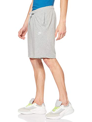 Nike NSW Club Short JSY Sport Shorts - Dark Grey Heather/(White), M
