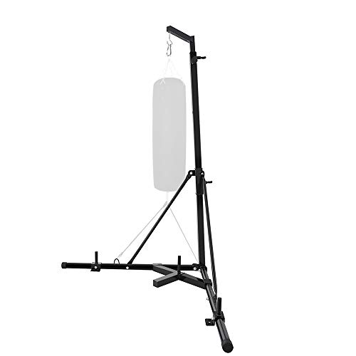 Weanas Folding Heavy Bag Stand Portable Sandbag Rack Free Standing Heavy Duty Punching Bag Boxing Stand Height Adjustable for Home Fitness