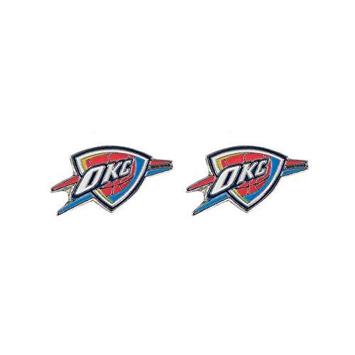 aminco NBA Oklahoma City Thunder Logo Post Pendientes
