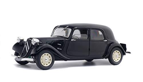 SOLIDO- Citroen-Traction 11 Cv-1937 Voiture Miniature de Collection, 1800903, Noir