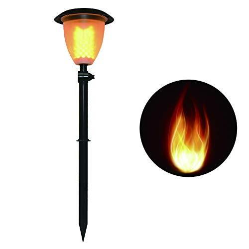 DJSDFHB Luz Solar de la Llama de la antorcha del Arco del LED, luz Impermeable del jardín de la luz de la Vela de la luz de la Vela del Paisaje del césped del jardín al Aire Libre del Chalet (1)