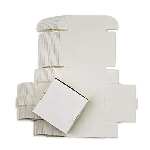54 maten Zwart wit Kraft papier gift verpakking doos doos doos kartonnen doos zeep Sieraden Candy pakket verpakking papier doos klein