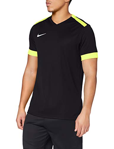 Nike Park Derby II SS, T-Shirt Uomo, Black Volt/White, M