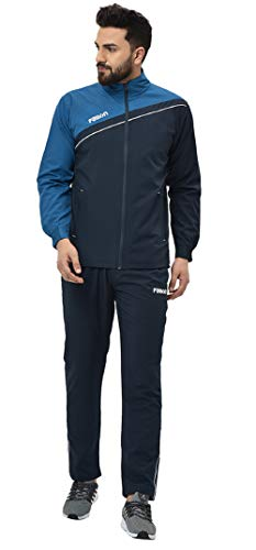 Fallyn Men's Polyester Regular Fit Track Suit | Size L | Airforce