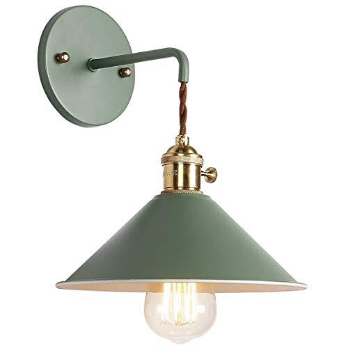 Vintage Wandlampe Reto Wandleuchte E27 Antik Wandlicht Metall Spiegelleuchte Spiegellampe Flurlampe Wandbeleuchtung für Wohnzimmer Schlafzimmer Flur Balkon Garten Treppen