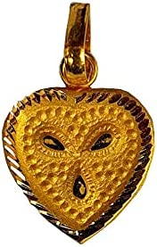 Certified Solid 22K/18K Yellow Fine Gold Heart Shape Design Pendant Available In Both 22 Carat And 18 Carat Fine Gold,For Women,Girls,Kids,Mens,Boys,Childrens,For Gift,Wedding,Regular Wear