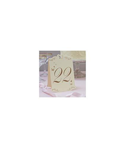 numéros de table mariposas-marfil (13 – 24) – décoration de Mariage, fêtes et événements