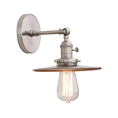 Phansthy Industrial Wall Sconce 1-Light Vanity Light with 7.87 Inches Lampshade