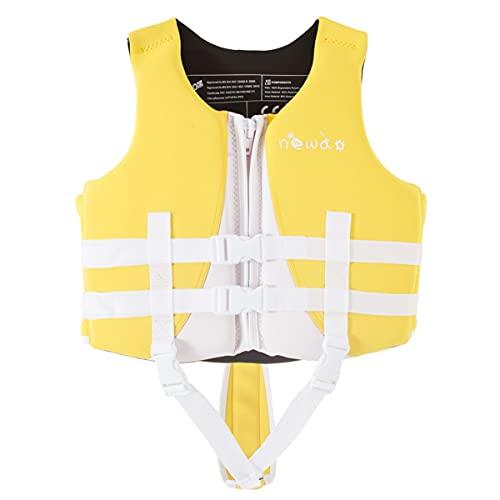 HWZZ Chalecos Salvavidas Adultos Chaleco De Natación para Niños Supervivencia Flotante Natación Chaquetas Flotantes Ayuda A La Flotabilidad para Kayak, Pesca, Surf, Buceo,Amarillo,L