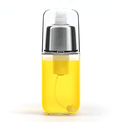 BFORS Öl-Sprüher-Zufuhr, Handpumpe Kochen Sprayer, 200 ml Glasflasche, Olivenöl Herr und Kochen Sprayer mit Clog-Free Filter und Pumpe