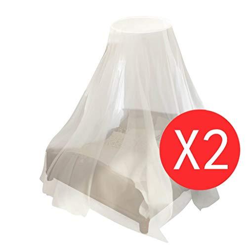vidaXL Moustiquaire Lit 2pcs Ronde Blanc Moustiquaire pour Lit Anti Moustique