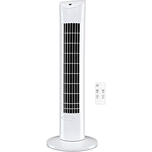 YYBF Persönlich Kühl Quiet Bladeless Oszillierende Aufsatz-Ventilator mit Fernbedienung, 7,5 Stunden Timer und 3-Lüfter-Modi für Haus und Büro