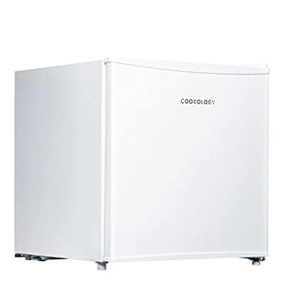 Cookology Table Top Mini Fridge A+ Rated, 46 Litre Refrigerator with Ice Box